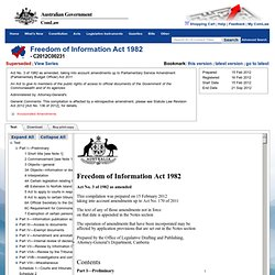 Freedom of Information Act 1982