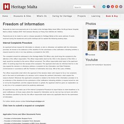 Freedom of Information « Heritage Malta