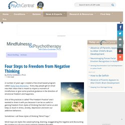 Four Steps to Freedom from Negative Thinking