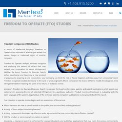 Menteso - Freedom to Operate Services
