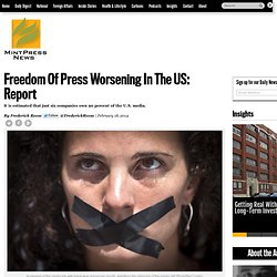 Freedom Of Press Worsening In The US: Report