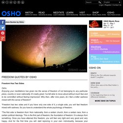 Freedom Quotes by Osho