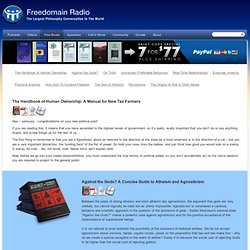 Freedomain Radio > Free Books