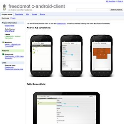 freedomotic-android-client - An Android client for Freedomotic