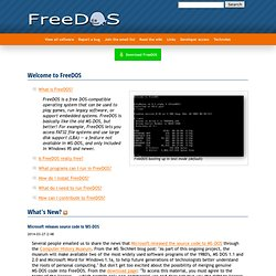 FreeDOS | The FreeDOS Project