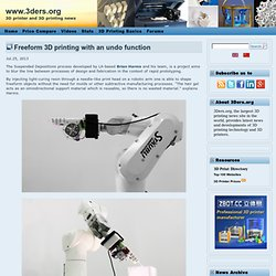 Freeform 3D printing with an undo function