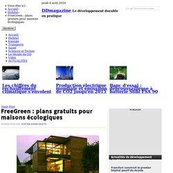 FreeGreen : plans gratuits pour maisons écologiques