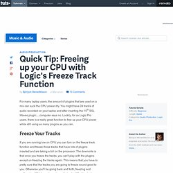 Freeing up your CPU with Logic's Freeze Track Function