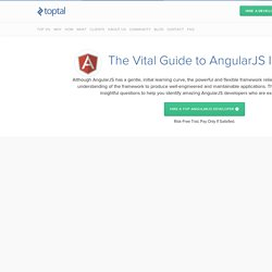 Top 10 Freelance AngularJS Developers for Hire in July 2015