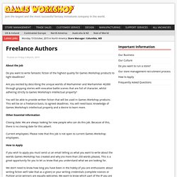 Freelance AuthorsGames Workshop
