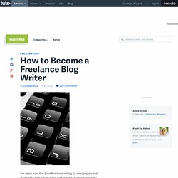 How to Become a Freelance Blog Writer