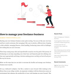 How to manage your freelance business - Ekprice