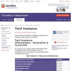Tarif freelance : tout connaître des tarifs du freelance