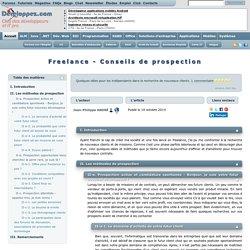 Freelance - Conseils de prospection