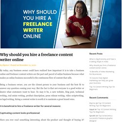Why should you hire a freelance content writer online - Ekprice