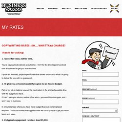 Freelance Copywriting Rates & Costs