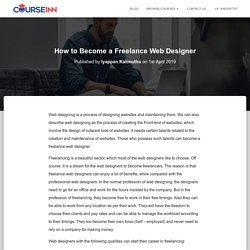 How to Become a Freelance Web Designer 2019