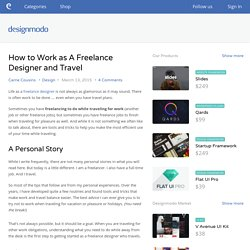 How to Work as A Freelance Designer and Travel - Designmodo