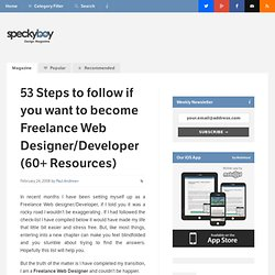 53 Steps to follow if you want to become Freelance Web Designer/Developer (60+ Resources) :Speckyboy Design Magazine