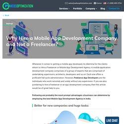 Hire a freelance developer vs Startup app development company