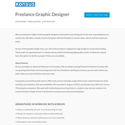 Konsus, Inc - Freelance Graphic Designer