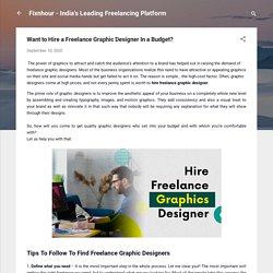 Hire Freelance Graphic Designers - Fixnhour