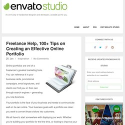 100+ Tips on Creating an Effective Online Portfolio