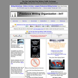 Freelance Writing Organization Intl Writing Links and Writing Resources www.fwointl.com