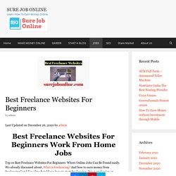 Best Freelance Websites For Beginners Work From Home - SureJobOnline