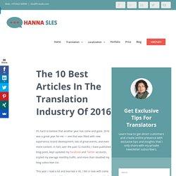 Freelance translator: The 10 Best Articles Of 2016