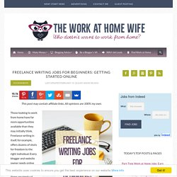 Freelance Writing Jobs for Beginners: Getting Started Online
