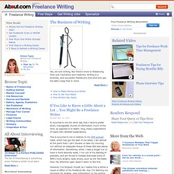 Freelance Writing Jobs and Your Freelance Writing Career