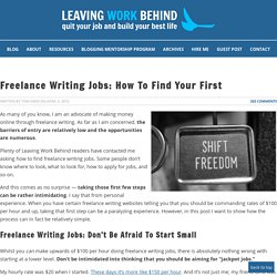 Freelance Writing Jobs: How to Find Your First