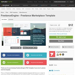 PSD Templates - FreelanceEngine - Freelance Marketplace Template