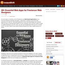 60+ Essential Web Apps for Freelancer Web Designers | Tools | in
