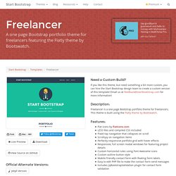 Start Bootstrap - Free Responsive One Page Portfolio Theme for Bootstrap 3
