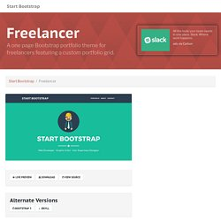 Freelancer - One Page Theme - Start Bootstrap