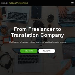 How can a Freelancer become an Owner of a Translation Company