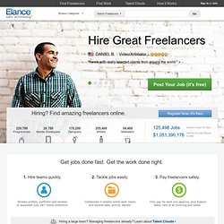 Outsource to freelance professionals, experts, and consultants - Get work done on Elance