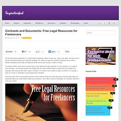 Contracts and Documents: Free Legal Resources for Freelancers
