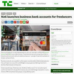 BANQUE : N26 launches business bank accounts for freelancers