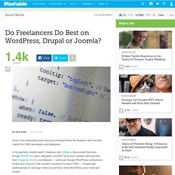 Do Freelancers Do Best on WordPress, Drupal or Joomla?