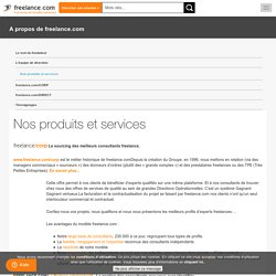 Des services complets pour les freelances, du recrutement au règlement des factures