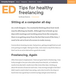 Tips for healthy freelancing