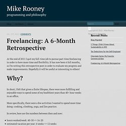 Freelancing: A 6-Month Retrospective - Mike Rooney
