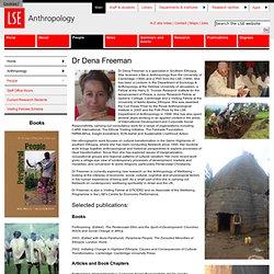 Dr Dena Freeman - People - Anthropology