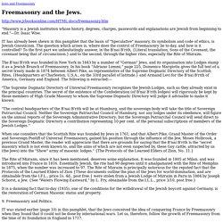 Freemasonry and the Jews.