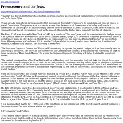 Freemasonry and the Jews.