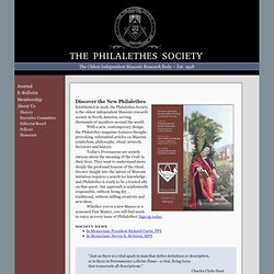 Freemasonry and the Philalethes Society, publisher of the Philalethes Magazine