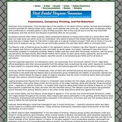 Freemasons, Conspiracy Thinking, and Pat Robertson